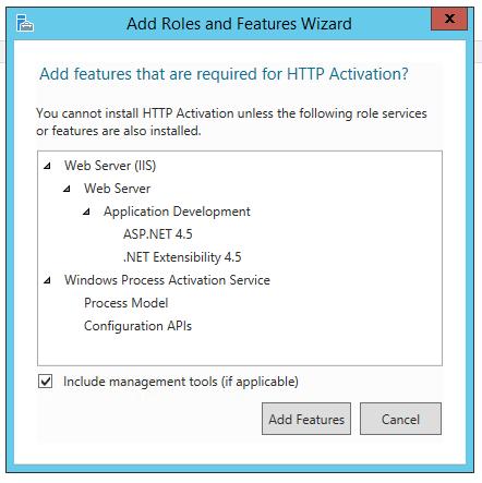 IIS Install, setup, web server, server roles, server features
