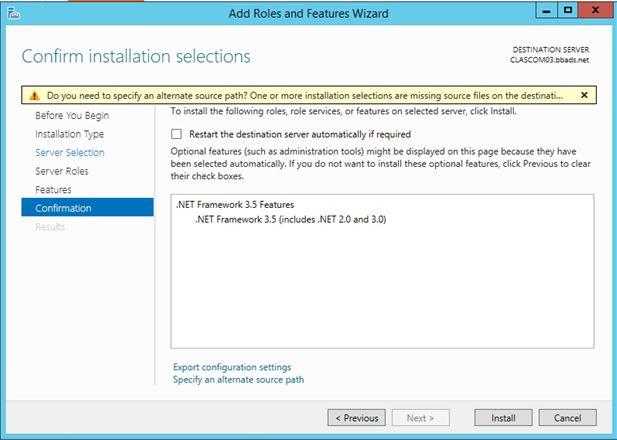 .NET 3.5 Install Error Media