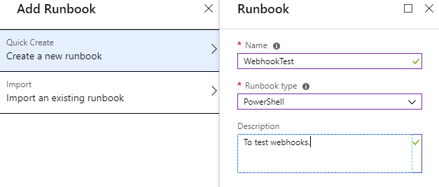 Create Azure Automation Runbook