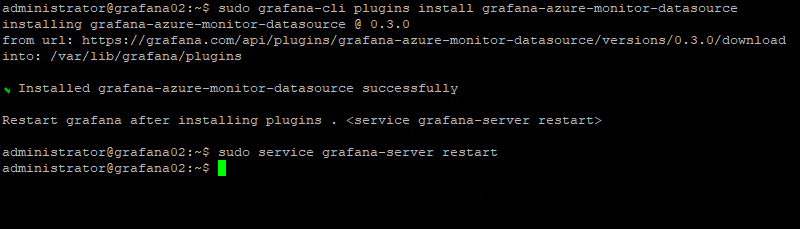 Grafana Azure Monitor Plugin Installation