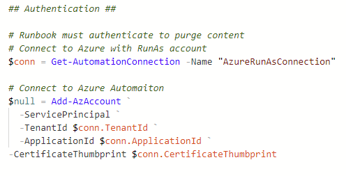 Azure Automation Runbook