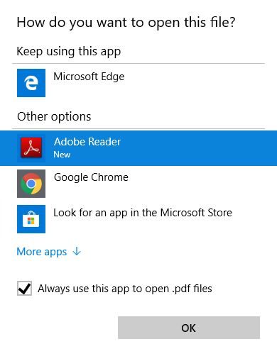 Change .PDF Default from Edge to Adobe Reader in Windows 10 - ciraltos