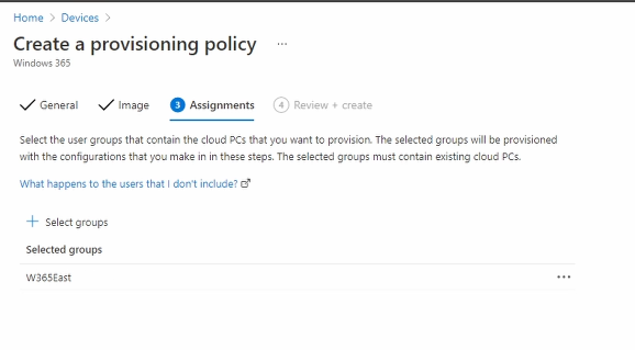 Create a Provisioning Policy Group