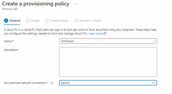 Create a Provisioning Policy